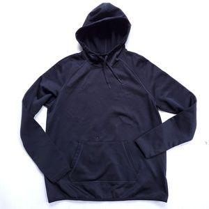 Nike plain back hoodie fleece material size L